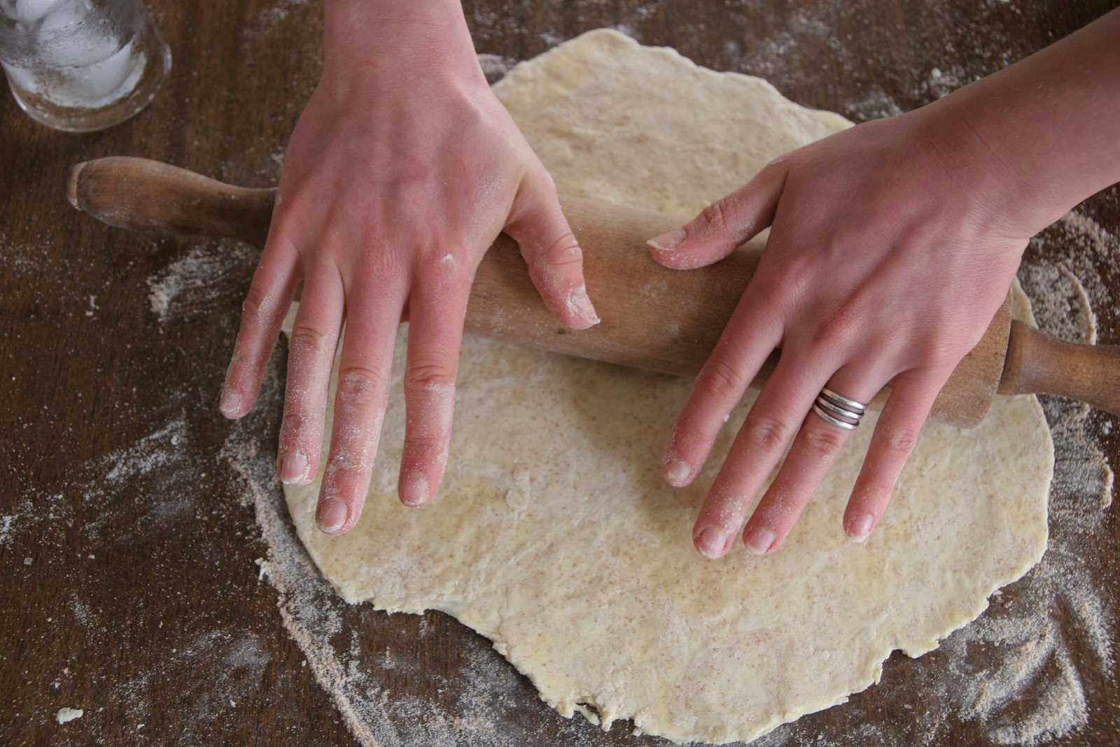 rolling out crust