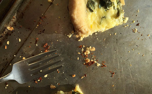 Potato And Spinach Tart With Garlic, Lemon And Feta