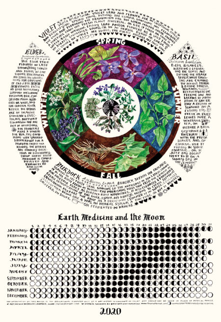 2020 Moon Calendar by Chelsea Granger and Britany Nickerson