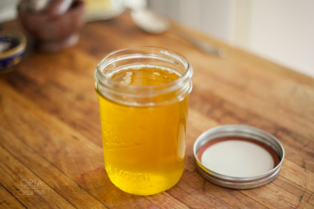 ghee from Making Ghee and Herbal Ghee course with Brittany Wood Nickerson
