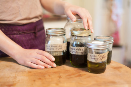 herbal infused oils from the Art of Home Herbalism Online