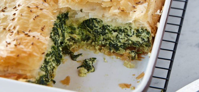 Spanakopita With Fresh Herbs And Wild Greens