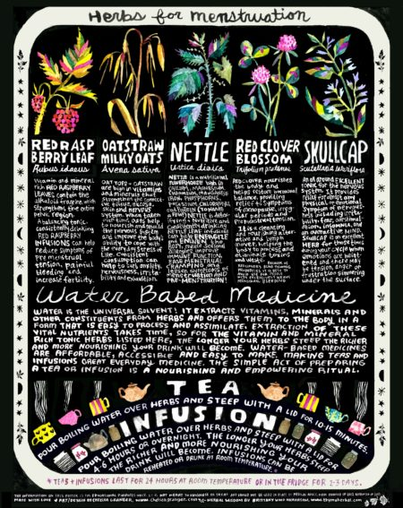 Herbs for Menstruation Poster