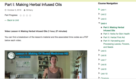 The Art of Home Herbalism with Brittany Wood Nickerson, online classroom