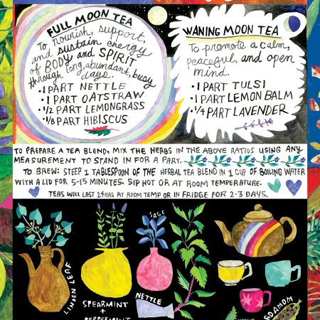 Tea with the Moon poster by Brittany Wood Nickerson and Chelsea Granger